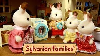 getlinkyoutube.com-Стиральная машина Sylvanian Families обзор + мультик из игрушек на русском