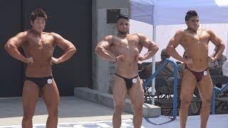 getlinkyoutube.com-Teen Bodybuilders at Muscle Beach - Memorial Day 2014