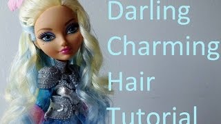 getlinkyoutube.com-Hair Tutorial: Darling Charming webisode hairstyle from Ever After High by EahBoy