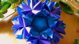 getlinkyoutube.com-Origami ❀ Amazonia ❀ Kusudama
