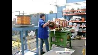 getlinkyoutube.com-Rebobinagem Rotor Gerador 1800KW