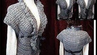 getlinkyoutube.com-Crochet a LACY SHRUG PART 1.