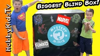 getlinkyoutube.com-Worlds BIGGEST TOY BOX! Marvel + Funko Pop Batman Avengers MLP Imagnext Blind Bags by HobbyKidsTV
