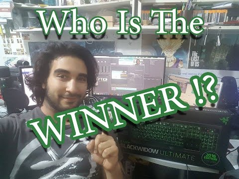 Winner Of The Razer Blackwidow Ultimate 2016 !!!!