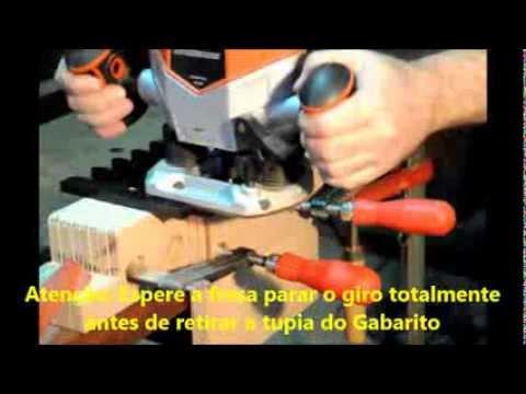 Rabo de Andorinha - Gabarito para fresar encaixe Rabo De Andorinha em madeira usando tupia