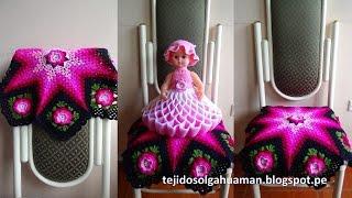 getlinkyoutube.com-Tapete o Carpeta tejido a crochet paso a paso video 4