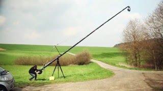 PROAIM Wave-5P Video Camera Jib Crane   Pan tilt Head   Tripod Stand   24ft   32ft   38ft
