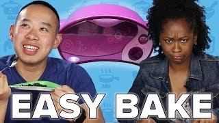 Adults Try Homemade Easy Bake Oven Recipes