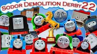 getlinkyoutube.com-Sodor Demolition Derby 22 | Thomas and Friends Trackmaster | Last Engine Standing