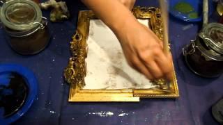 getlinkyoutube.com-Rendiamo antica una cornice  (Fai da Te) - Arte per Te-