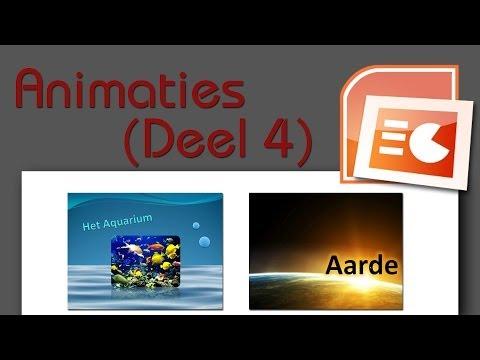 PowerPoint Les 6: Animaties (Bewegend Water Effect + Bewegende Camera Effect)