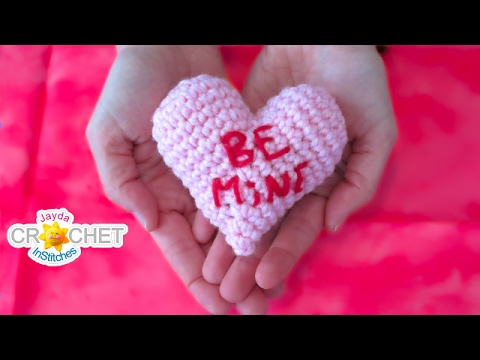 Valentine's Candy Heart - Crochet Tutorial