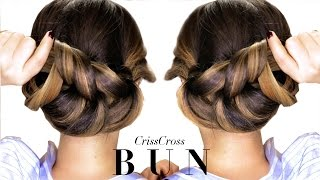 getlinkyoutube.com-★ 3-Minute Elegant BUN Hairstyle Every Girl DOESN'T ALREADY KNOW ★ Easy Updo Hairstyles