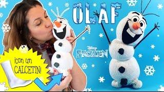 getlinkyoutube.com-Muñeco de nieve OLAF hecho con calcetín * Manualidades NAVIDEÑAS