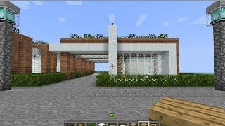 getlinkyoutube.com-minecraftสอนสร้างบ้านโมเดรินชั้นเดียวmodern house2