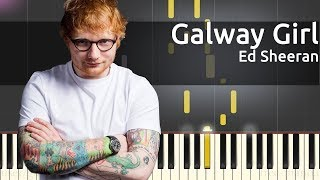 GALWAY GIRL - ED SHEERAN  karaoke version ( no vocal ) lyric instrumental