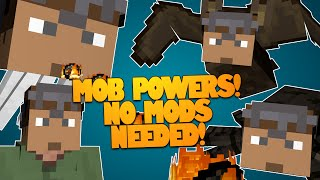 getlinkyoutube.com-Minecraft | MOB POWERS! Fly, Explode, & More! NO MODS NEEDED! | Mob Abilities (Minecraft Redstone)