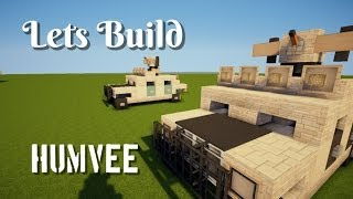 "getlinkyoutube.com-Minecraft: Lets Build/ Humvee ""Tutorial"" (with Gun)"