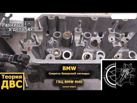 ГБЦ BMW M40 (микро видео)