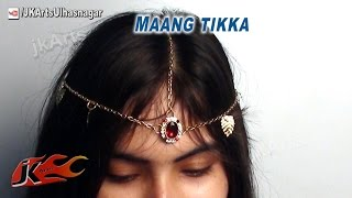 getlinkyoutube.com-DIY Kundan Crown Hair Accessory - How to Make Maang Tikka | JK Arts 562