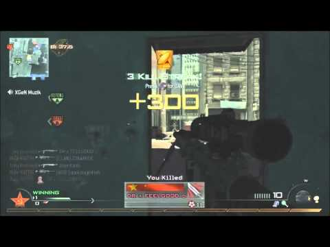 Modern Warfare 2 - Intervention - 10 Kill feed in 10 seconds - EPIC