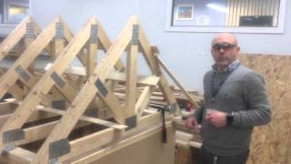 getlinkyoutube.com-Erecting a roof Part 2 - Installing the trusses