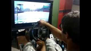 getlinkyoutube.com-Homemade Motion Simulator | DiRT3 Gameplay | Testdrive | VERY Smooth settings! | Racing Simulator |