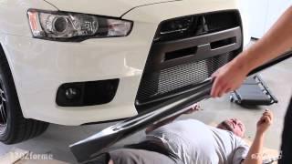 getlinkyoutube.com-Installing JDP Carbon Fiber Lip EVO X | 2014 Mitsubishi Lancer Evolution X