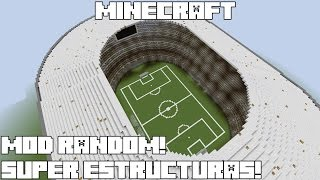 getlinkyoutube.com-Minecraft MOD RANDOM! SUPER ESTRUCTURAS! Instant Massive Structures Mod Review Español!