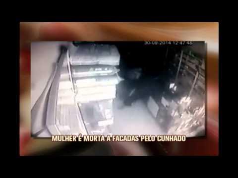 Vídeo mostra homem matando cunhada a facadas dentro de farmácia no Norte de Minas