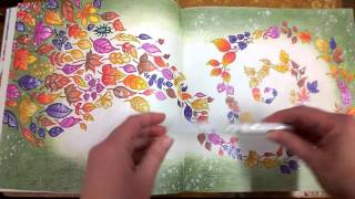 getlinkyoutube.com-Colouring Book Enchanted Forest  Walk through with tips and coloured pages.
