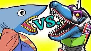 "getlinkyoutube.com-SUPER Hero! ""My Cute Shark Attack Cartoon #27 (Shark vs. Dino ROBOT +BEST OF!!) kids cartoon!"