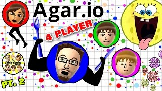 getlinkyoutube.com-EATING EACH OTHER! AGAR.IO 4 Player FGTEEV Battle! Duddy vs. Family (Multiplayer Gameplay)