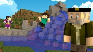 Minecraft | LA MEJOR CASCADA!! c/ Vegetta | Minijuego BUILD BATTLE