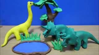 getlinkyoutube.com-Modelling clay Dinosaurs | Play Doh| ปั้นดินน้ำมันไดโนเสาร์|ไดโนเสาร์