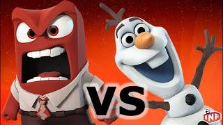 getlinkyoutube.com-Anger vs Olaf sarlacc pit arena fight Disney Infinity toy box
