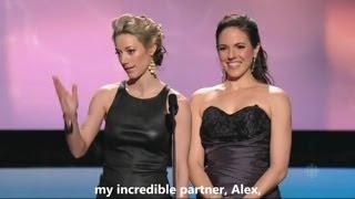 getlinkyoutube.com-Anna Silk & Zoie Palmer at the Canadian Screen Awards 2014