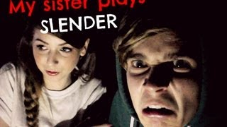 getlinkyoutube.com-My Sister Plays SLENDER | ThatcherJoe