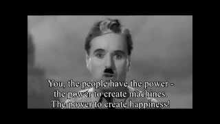 getlinkyoutube.com-The Great Dictator Speech (by- Charlie Chaplin ) with Subtitles HD