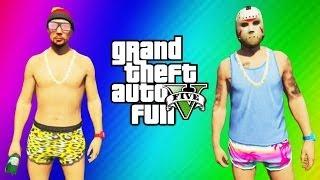 getlinkyoutube.com-GTA 5 Online Beach Bum Pack Funny Moments - Broken Bottle Weapon, Camper Van, Speeder Boat