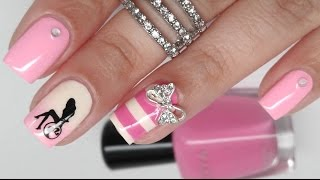 getlinkyoutube.com-Barbie Birthday Nail Art