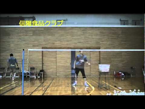 badminton trick shot  (magic serve)