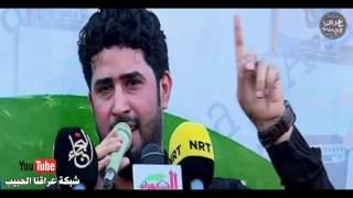 نعي الرادود احمد الساعدي على شهداء الكرادة   من مكان الانفجار 2016