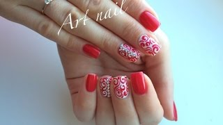 getlinkyoutube.com-Дизайн Ногтей Завитки или Вензеля! Nail Art Designs
