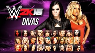 getlinkyoutube.com-WWE 2K16 Divas Roster - Biggest ever WWE Roster! (Notion)