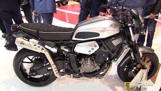 getlinkyoutube.com-2016 Yamaha XSR700 ABS - Walkaround - 2015 EICMA Milan
