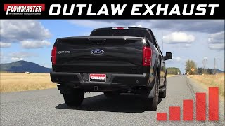 getlinkyoutube.com-Flowmaster Outlaw Cat-back Exhaust System - 2015-2017 Ford F150 5.0L TiVCT - 817726