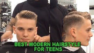 getlinkyoutube.com-Best Modern Hairstyle for teens | Taper Fade | Popular Hairstyle For Guys