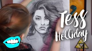 getlinkyoutube.com-Drawing Tess Holliday // Rad Portraits #4 with Beth Be Rad | SNARLED |