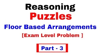 Floor Based Puzzle ( Exam level)  for Bank PO/ Clerk [ In Hindi ] Part 3